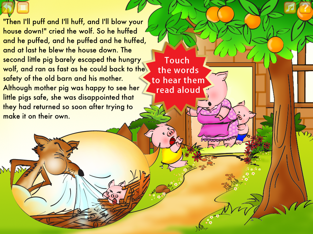 Uncategorized The Three Little Pigs Story For Children the three little pigs storybook hd smash atom software llc your child can read on his or her own